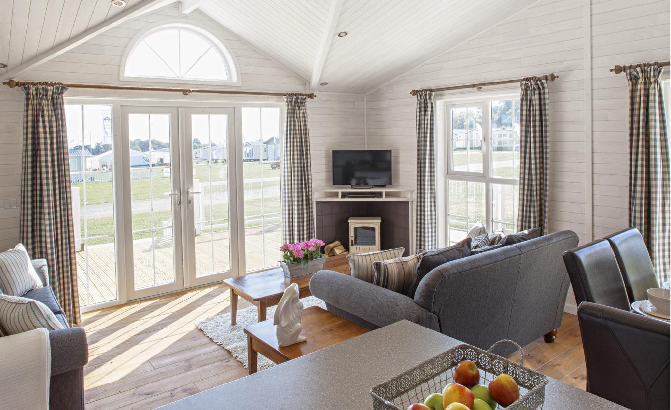 The New England Timber Lodge — Living Room