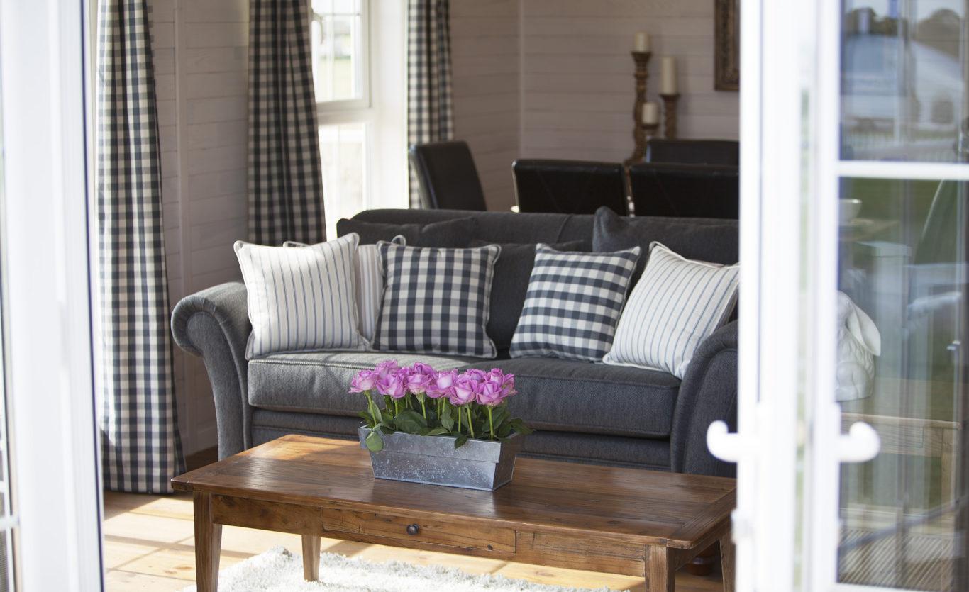 The New England Timber Lodge — Living room Sofa