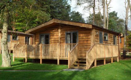 Woodsman quality build timber lodge—exterior