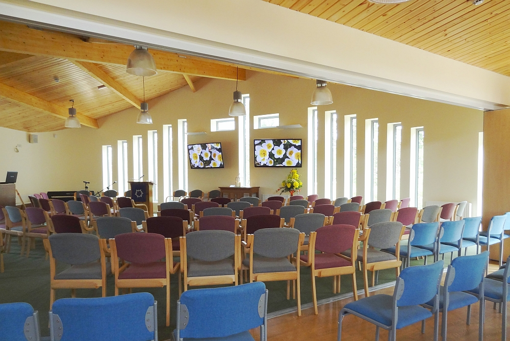 Community centre and church - interior main worship hall