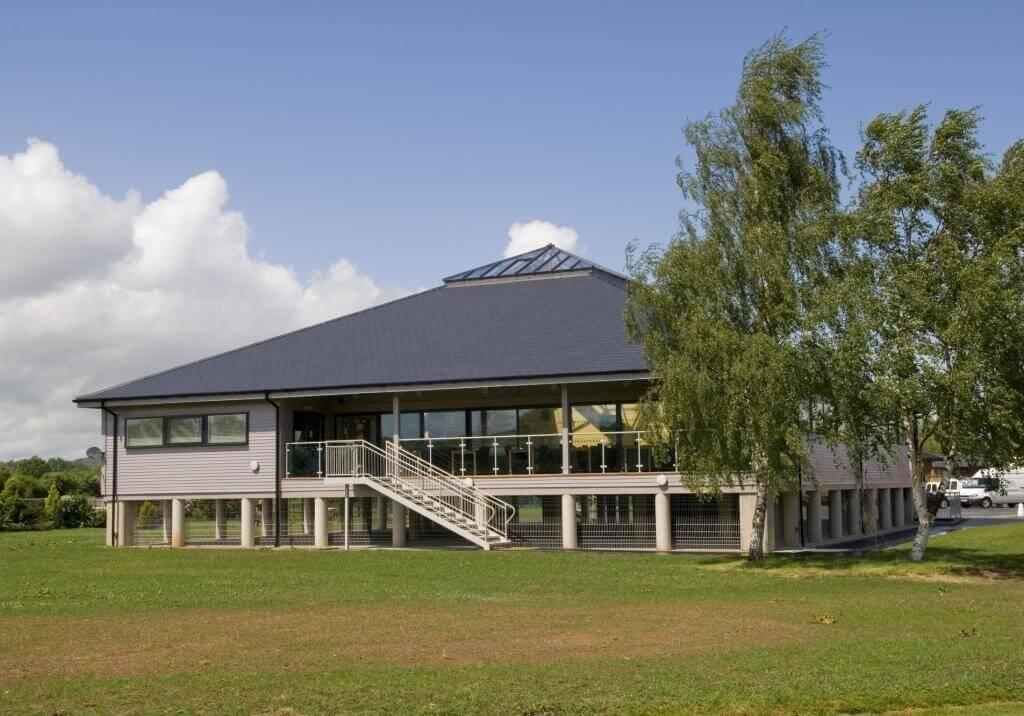 Abbots Salford Caravan Park Clubhouse exterior front view