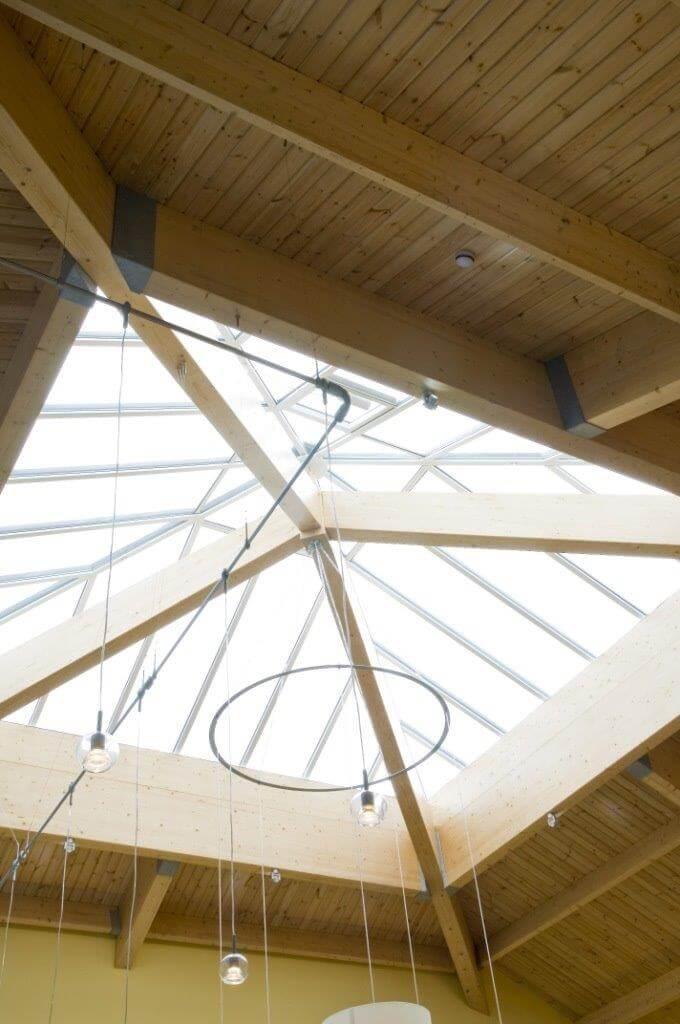 Abbots Salford Caravan Park Clubhouse roof skylight