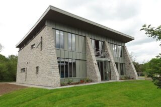 Exterior front 3/4 view of Bakewell show office