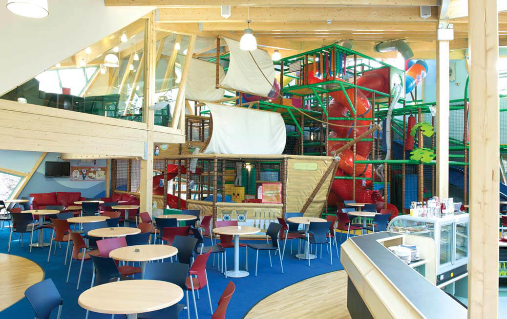 seating area next to play area